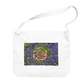 ぐるぐる花々 Big Shoulder Bag