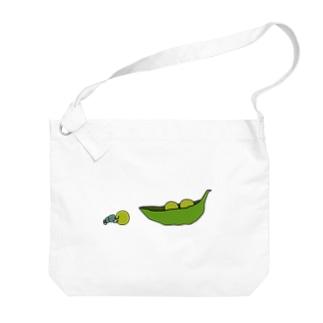 えんどう豆を運ぶフンコロガシ Big shoulder bags