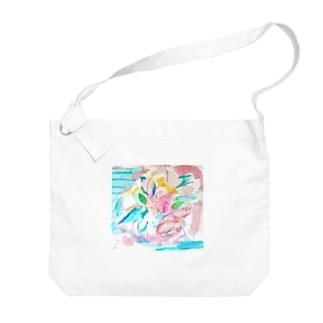 coaiの花のイロ Big shoulder bags
