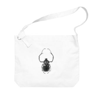 テルヌマテナガコガネ_モノクロ Big shoulder bags