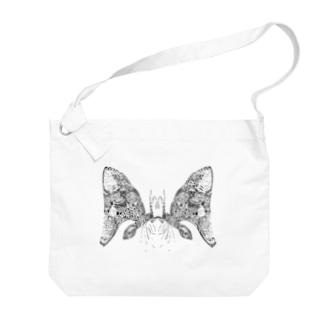 蝶々さん Big shoulder bags