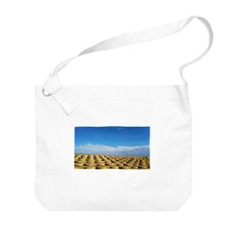 海辺の石段 Big shoulder bags