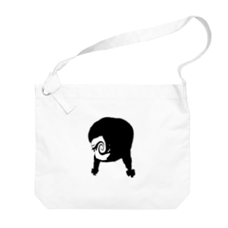 モノクロgirl Big shoulder bags