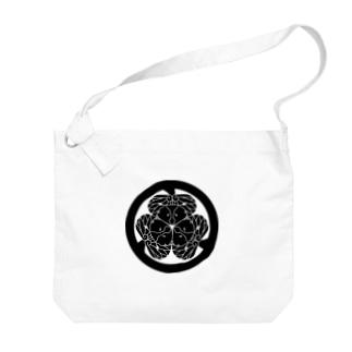 動物家紋。H.T.(三つ葉葵ハシビロコウ) Big shoulder bags