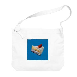 いちごのケーキ Big shoulder bags