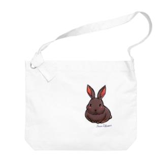 不思議野ウサギ Big shoulder bags