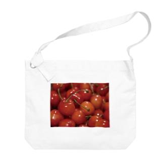 やまもりさくらんぼちゃん Big shoulder bags