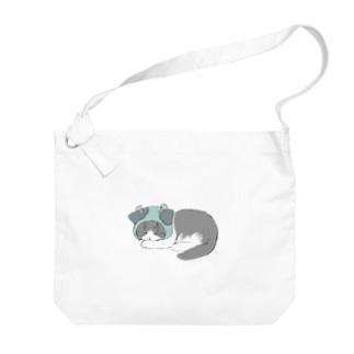 【ハロウィン】フランケンシュタインねこ Big shoulder bags