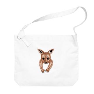 袋の中からカンガルーの赤ちゃん Big shoulder bags