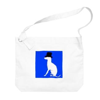 帽グレ Big shoulder bags