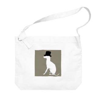 帽グレ(グレー) Big shoulder bags
