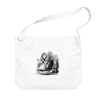 不思議の国のアリス アリスと猫 Big shoulder bags