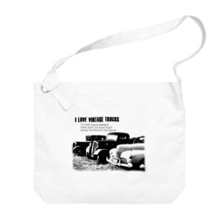 レトロトラック Big shoulder bags