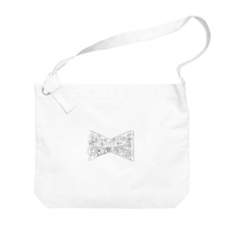 カオスなリボン Big shoulder bags