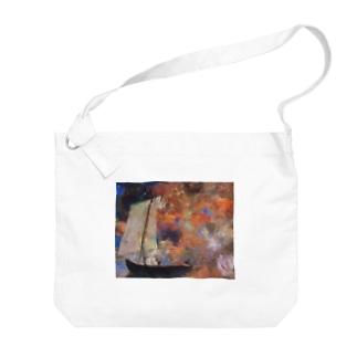 オディロン・レドン / Flower Clouds / 1903 / Odilon Redon. Big shoulder bags