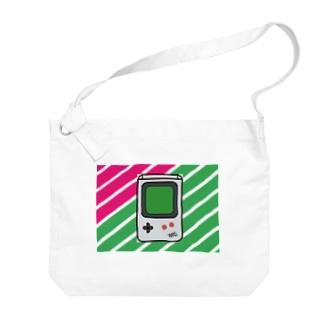 8bitなレトロゲーム Big shoulder bags