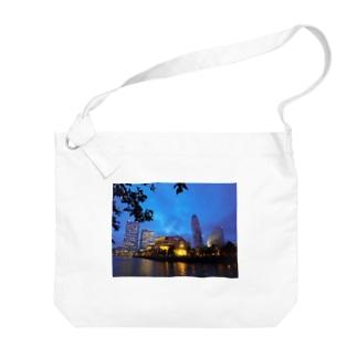 みなとみらいの夜景 Big shoulder bags