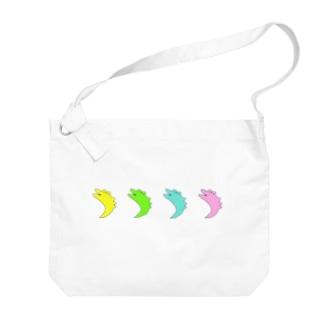 ワニ Big shoulder bags