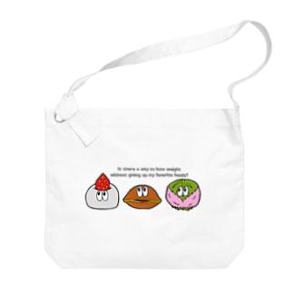 和菓子/モンスター Big shoulder bags