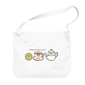紅茶/モンスター Big shoulder bags