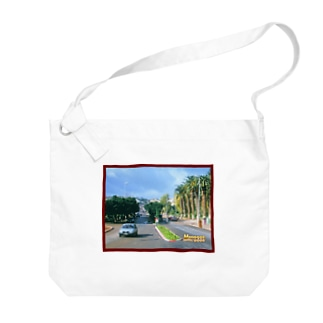 モロッコ:椰子の並木道 Morocco: Palm Tree-Lined Street Big shoulder bags