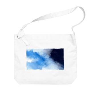 青空に夜空を夢見る Big shoulder bags