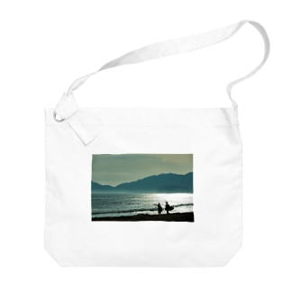 ビーチ Big shoulder bags