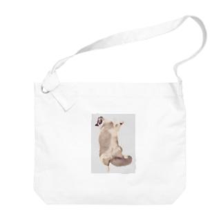 TUNA猫 ぐでっと Big shoulder bags