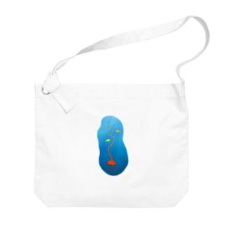 漂う木クラゲ Big shoulder bags