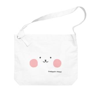 ネコペチ@顔面 Big shoulder bags