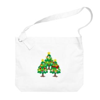 CT89 森さんのクリスマスツリーB Big shoulder bags