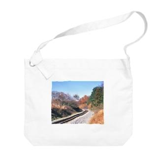 日本の鉄道:非電化区間の秋景色 Japanese rail: Non-electrified section Big shoulder bags
