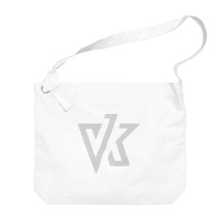 VK ロゴ ライトグレイ Big shoulder bags
