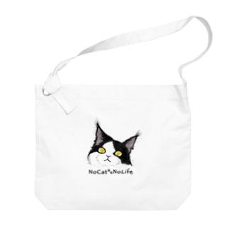 Mainecoon🐾Black&White  Big shoulder bags