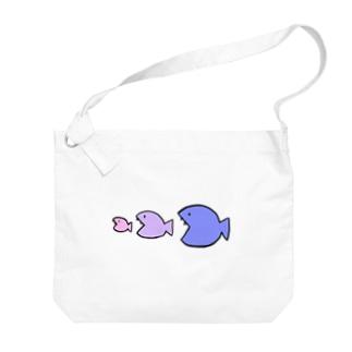 おさかな天国 Big shoulder bags