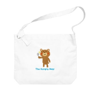 The Hungry Bear ロゴあり Big shoulder bags