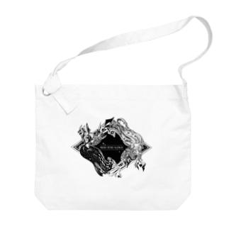 【疫病退散ノ刻】アマビエ Big shoulder bags