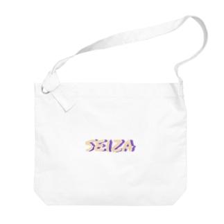 seizaのseiza LOGO Big shoulder bags