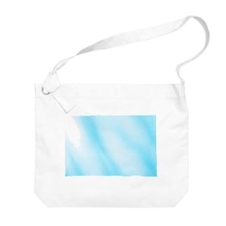 水色マーブル Big shoulder bags
