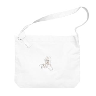風呂上がり(クリア) Big shoulder bags