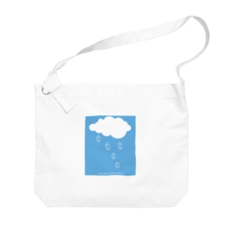 雲と水晶(ブルー) Big shoulder bags