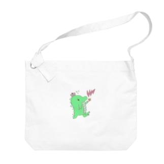 恐竜のきぃくん Big shoulder bags
