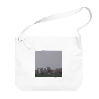 Fog and deer II Big shoulder bags