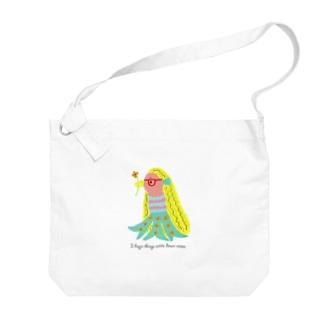 アマビエちゃん Big shoulder bags