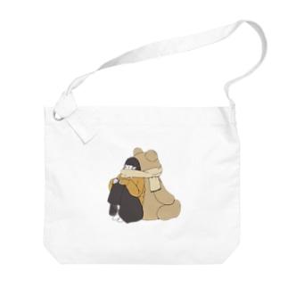 蒼井すばるのくまマフラー。 Big shoulder bags