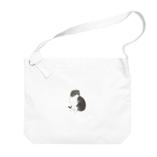 スコティッシュフォールドのスコちゃん Big shoulder bags