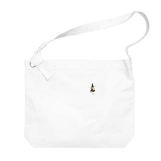 妖怪 からかさ小僧(ワンポイント) Big shoulder bags