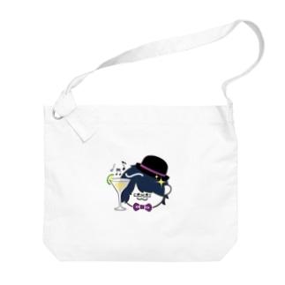 ミニやちシャンペン Big shoulder bags