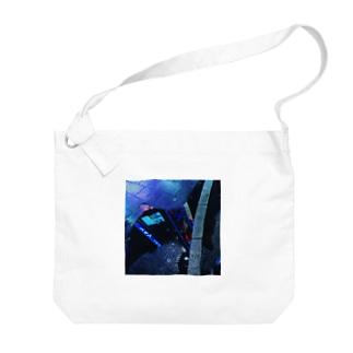 水溜りの中の街 Big shoulder bags