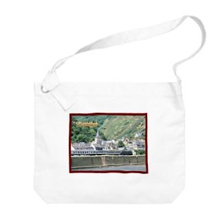 ドイツ:ライン河畔の風景写真 Germany: Riverside view of rhein Big shoulder bags